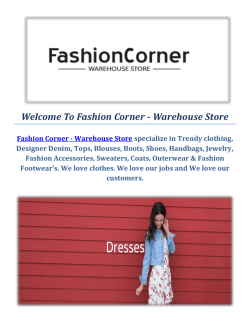 Online Fashion Boutiques by Fashion Corner - Warehouse Store