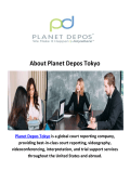 Planet Depos Tokyo - Court Reporters in Japan
