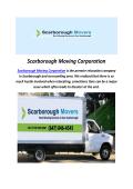 Scarborough Moving Companies In Toronto
