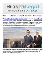 Law Offices of Justin C. Brasch Eviction Lawyer Commercial Tenant Rights