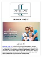 Asset Protection Attorney Utah @ Dennis M. Astill, PC