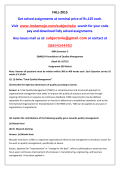 QM0019-Foundations of Quality Management