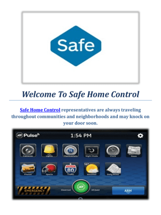 Adt Home Security Provo : Safe Home Control