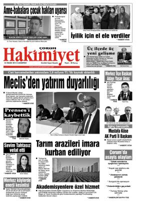 (22 kas\375m.qxd) - Çorum Hakimiyet Gazetesi
