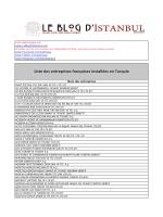 Liste des entreprises françaises installées en Turquie