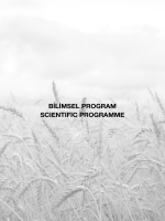 bilimsel program scıentıfıc programme