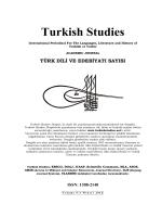 Editörden - Turkish Studies
