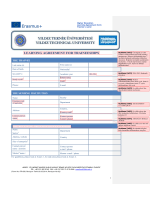LEARNING AGREEMENT FOR TRAINEESHIPS
