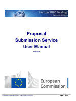 Proposal Submission Service User Manual