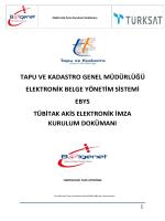 tapu ve kadastro genel müdürlüğü elektronik belge yönetim sistemi