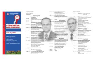 2013-2014, XVI. Öğrenci Sempozyumu Programı