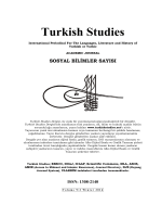 Editörden - Turkish Studies