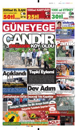 11 Haziran 2014 - Güney Ege Gazetesi