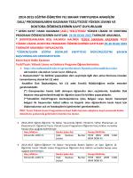 Sınav Sonuçları ve Kayıt Bilgileri
