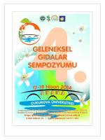 4. Geleneksel Gıdalar Sempozyumu Poster Programına