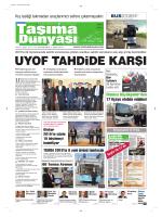 Taşıma Dünyası Gazetesi-171 PDF 19 Ocak 2015 tarihli sayısını
