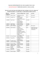 Vize Mazeret Sınav Tarihi ve Öğrenci Listesi