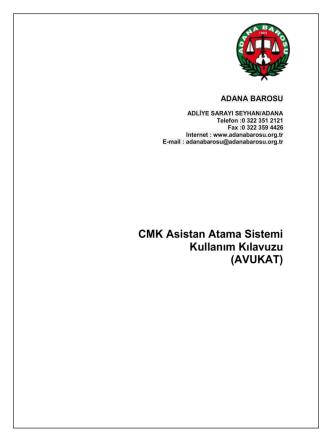 AVUKAT - ADANA BAROSU ONLINE İŞLEMLER