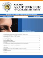Sayı2 - Ankara Akupunktur Derneği