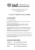 2014 Takip Otomotiv Brüt Fiyat Listesi