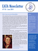 EATA Newsletter - European Association for Transactional Analysis