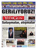 türkçe bakış - Yedigün Gazetesi