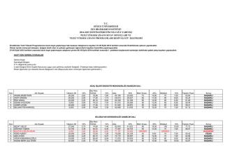2014-2015 eğitim-öğretim yılı güz yarıyılı tezli yüksek lisans sınav