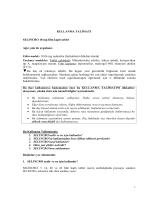 Selincro® 18 mg Film Kaplı Tablet