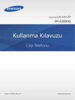 Samsung Galaxy A3 (4G) Kullanım Kılavuzu