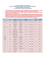 2014–2015 akademik yılı bahar dönemi erasmus+ öğrenci öğrenim