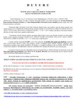 (CİK KATİP)Aday Tespit Listesi 16.03.2015