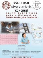 xvı. ulusal biyoististik kongresi bilimsel programı