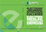 ELECTRONIC JOURNAL OF VOCATIONAL COLLEGES