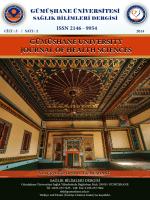 Sağlık Bilimleri Dergisi - Gümüşhane Üniversitesi