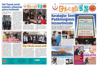 çocukuz bülteni 2. sayı - İzmir Dr. Behçet Uz Çocuk Hastalıkları