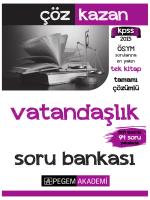 KPSS Genel Kültür Vatandaşlık Tamamı Çözümlü Soru