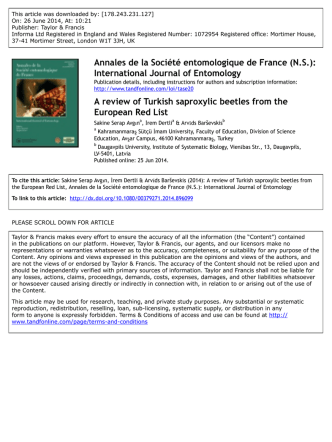 A review of Turkish saproxylic beetles from the