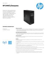 HP Z440 Ürün Broşürü