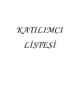 12. Geometri Sempozyumu Katılımcı Listesi