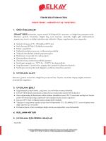 TEKNİK BİLGİ FORMU (TDS) GRANIT EB25 – MERMER VE