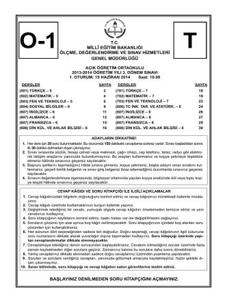 1. Oturum - Milli Eğitim Bakanlığı