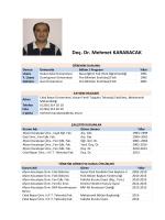 Doç. Dr. Mehmet KARABACAK - Celal Bayar Üniversitesi
