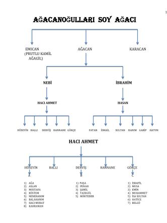 ağacanoğulları soyağacı