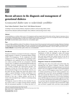 Recent advances in the diagnosis and management