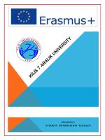 Kilis 7 Aralık University Information Pack for