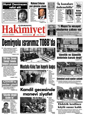 (3 may\375s.qxd) - Çorum Hakimiyet Gazetesi