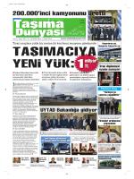 Taşıma Dünyası Gazetesi-165 PDF 8 Aralık 2014 tarihli sayısını