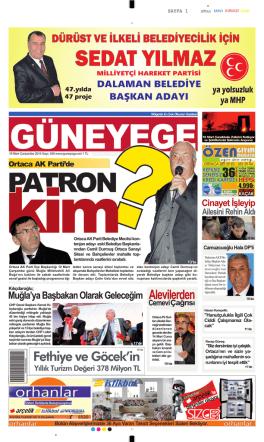 19 Mart 2014 - Güney Ege Gazetesi