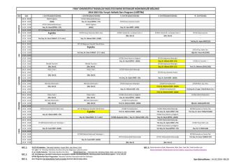2014-2015 guz y.yılı haftalık ders programı