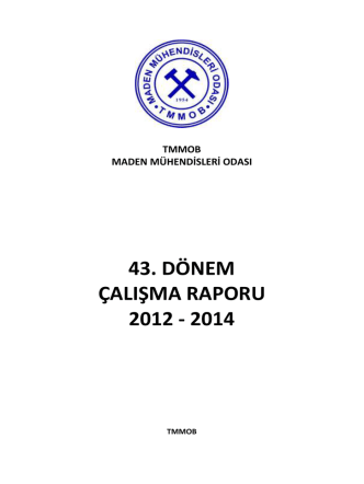 43. dönem çalışma raporu 2012 - 2014